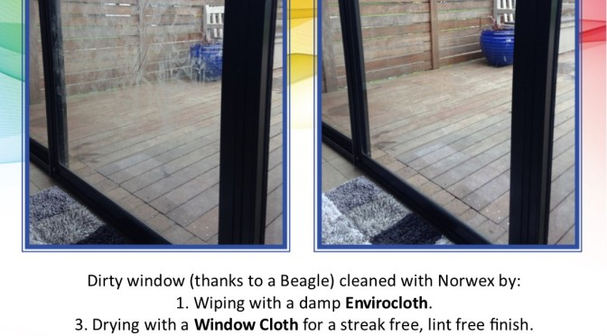 WARNING: Using Norwex can make glass invisible….