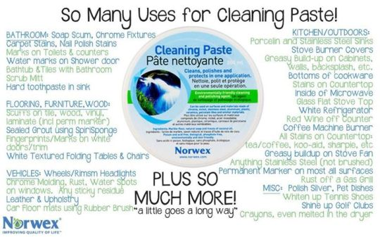 cleaning paste uses