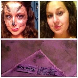 make up cloth halloween make up off