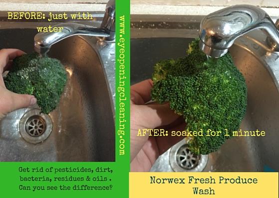 fresh produce wash broccoli