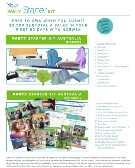 party starter kit AU 2018