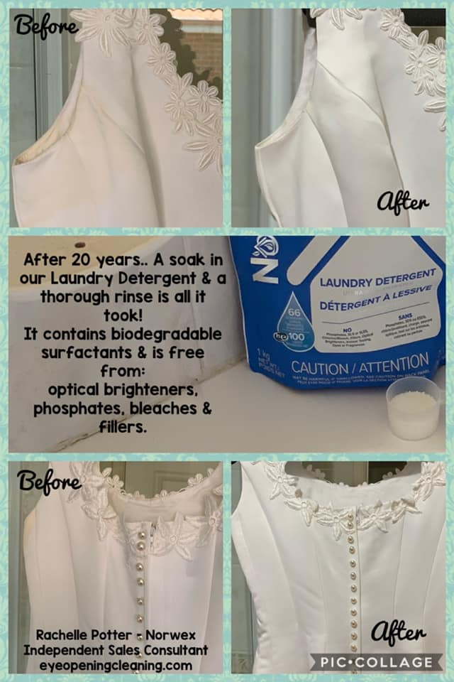 laundry detergent wedding dress