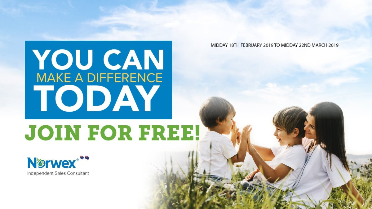 Attention Australia & New Zealand...Join Norwex for Free until March 22!!